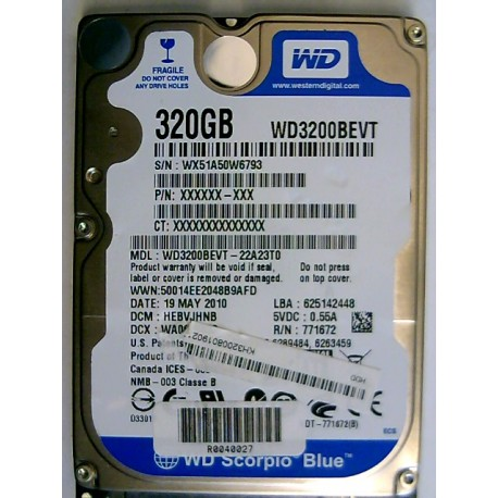 WD3200BEVT-22A23T0